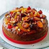 Christmas fruit cake with ginger