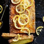 Double lemon drizzle cake