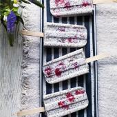 Raspberry, lime and coconut chia ice pops