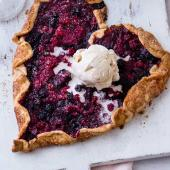 Red berry galette