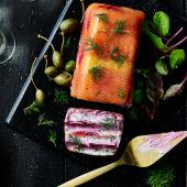 Salmon and beetroot terrine