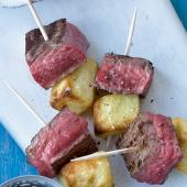 Steak and frites skewers