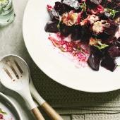 Warm beetroot with goats' cheese and tarragon