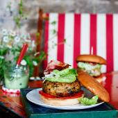 Tom Kerridge's Fish burgers with herb mayonnaise