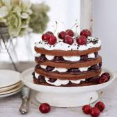 Chocolate cherry trifle cake (gluten-free)