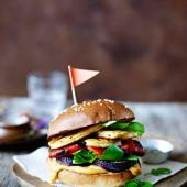 The ultimate veggie burger with lemon-chipotle mayo