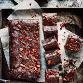 Maple-bacon and pecan brownies