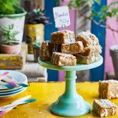 Coconut and white chocolate blondies