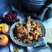Spiced chicken butternut couscous