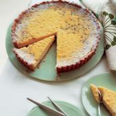 Lemon and passionfruit tart