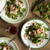 Thai-style asparagus, prawn & green bean salad