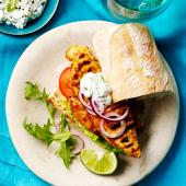 Anjum Anand's Indian-style chicken burgers