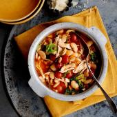 Fast chicken, butter bean and tomato stew