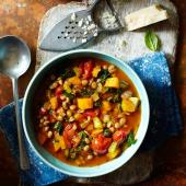 Lentil and vegetable minestrone