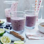Blueberry lime smoothie