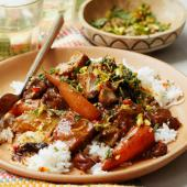 Moroccan-spiced fruity pork