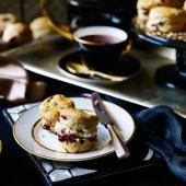 Mini cherry scones