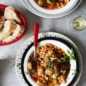 Simple sausage and rosemary cassoulet