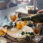Caramelised clementine and sherry cocktail