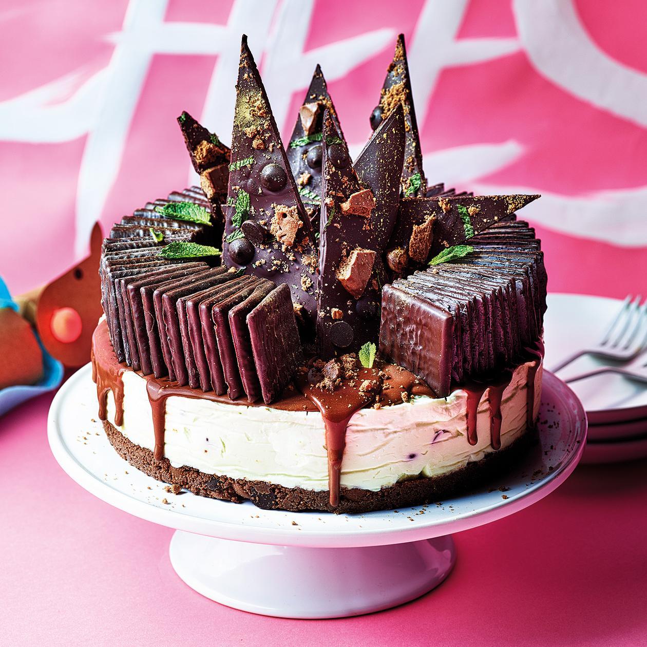 Astonishing After Eight Cheesecake Recipe Sainsburys Magazine Personalised Birthday Cards Petedlily Jamesorg