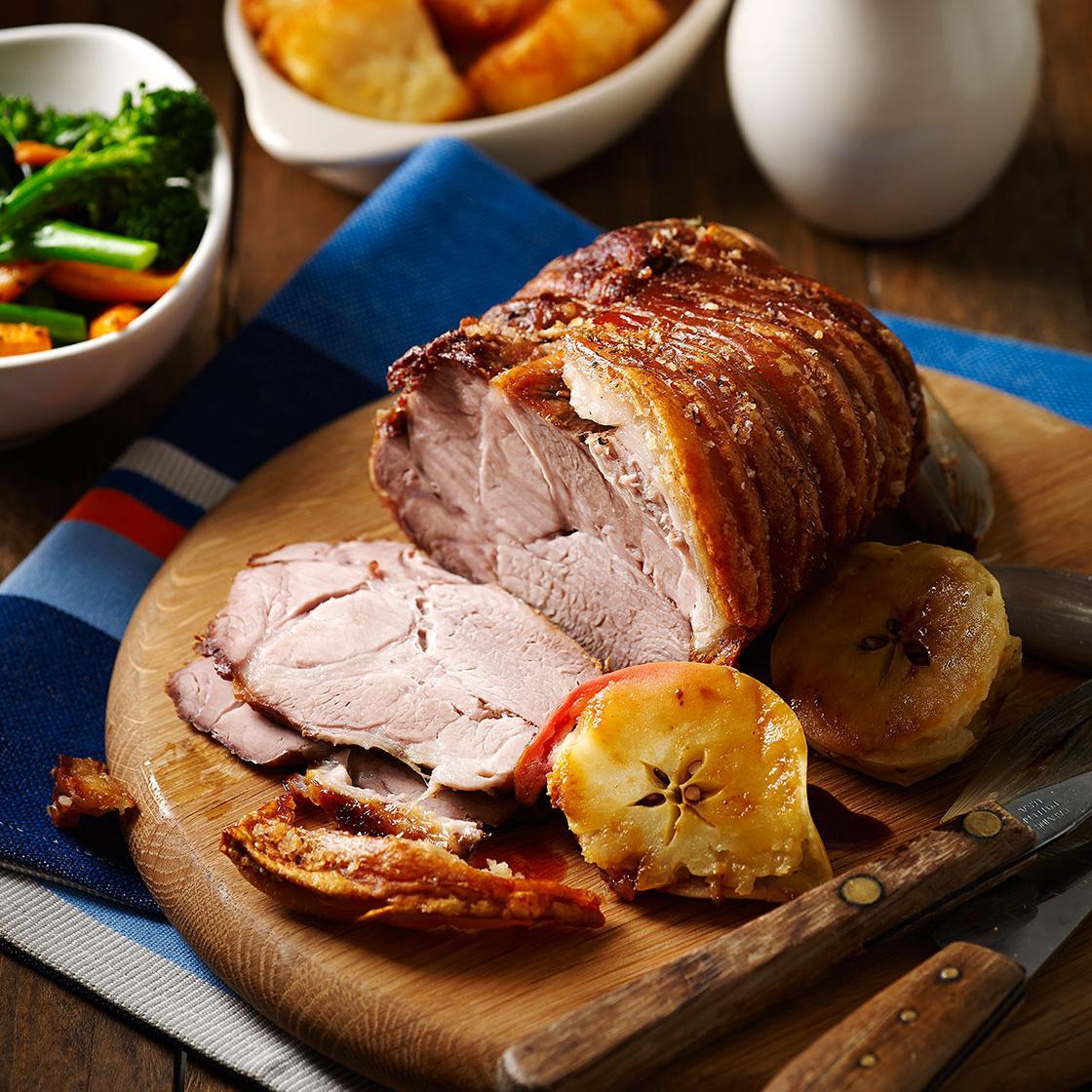 Roast Pork Shoulder With Crackling And Cider Gravy Sainsbury S Magazine