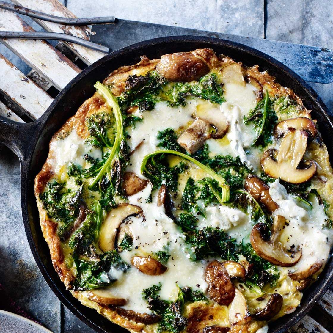 Kale Mushroom And Gorgonzola Frittata Recipe Sainsbury S Magazine