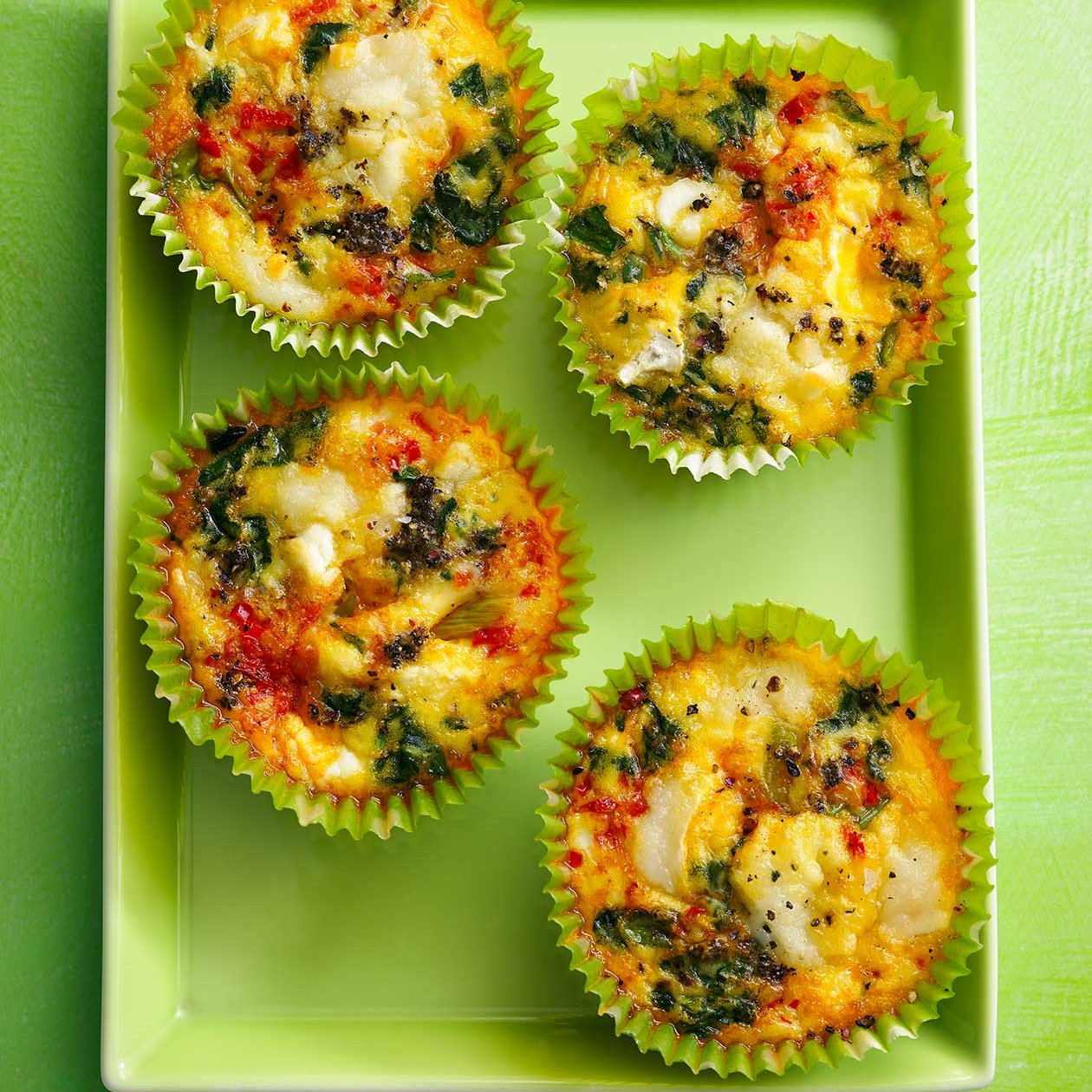 Red Pepper And Spinach Egg Muffins Recipe Sainsbury S Magazine