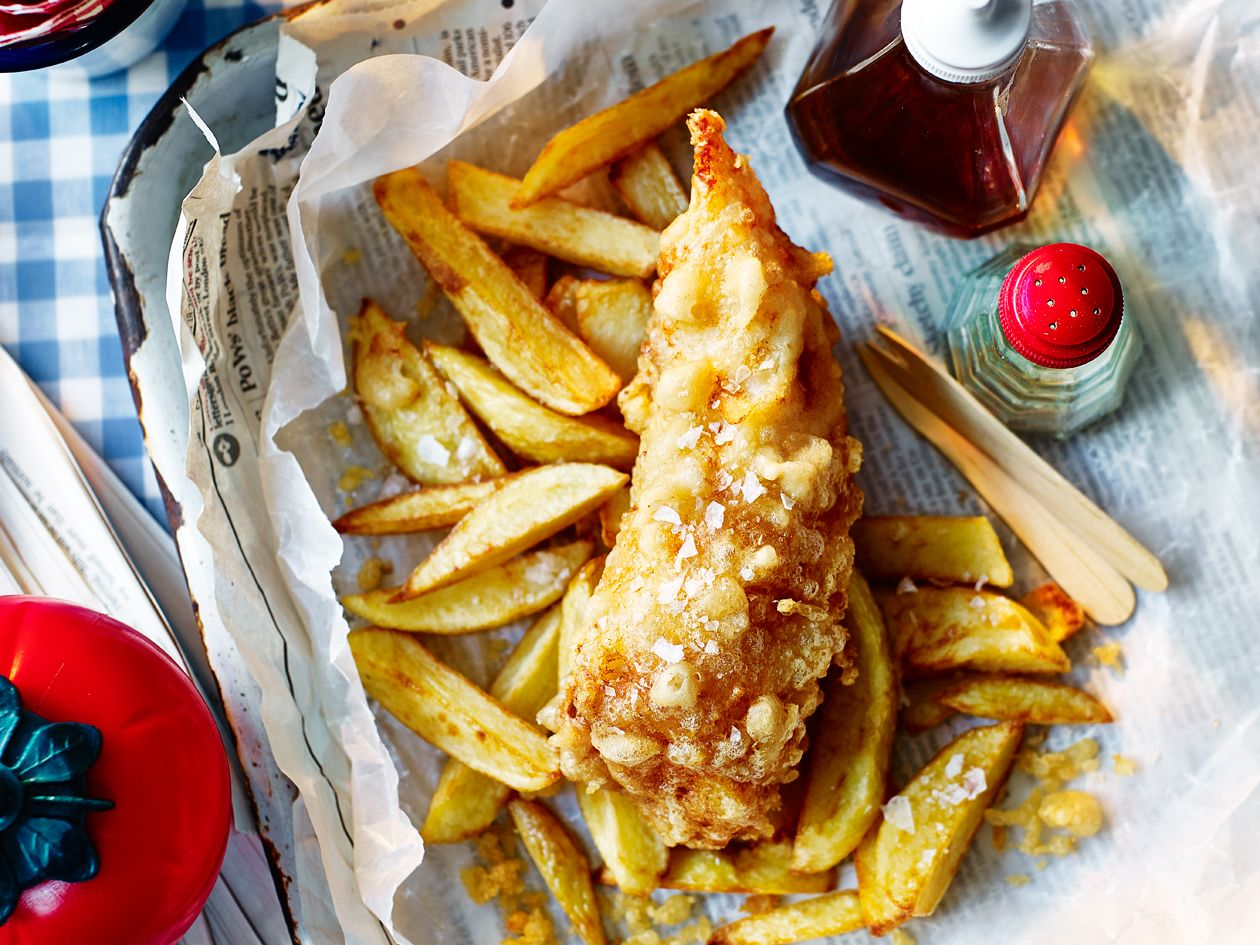 Homemade Tempura Batter Fish And Chips Recipe Sainsbury S Magazine