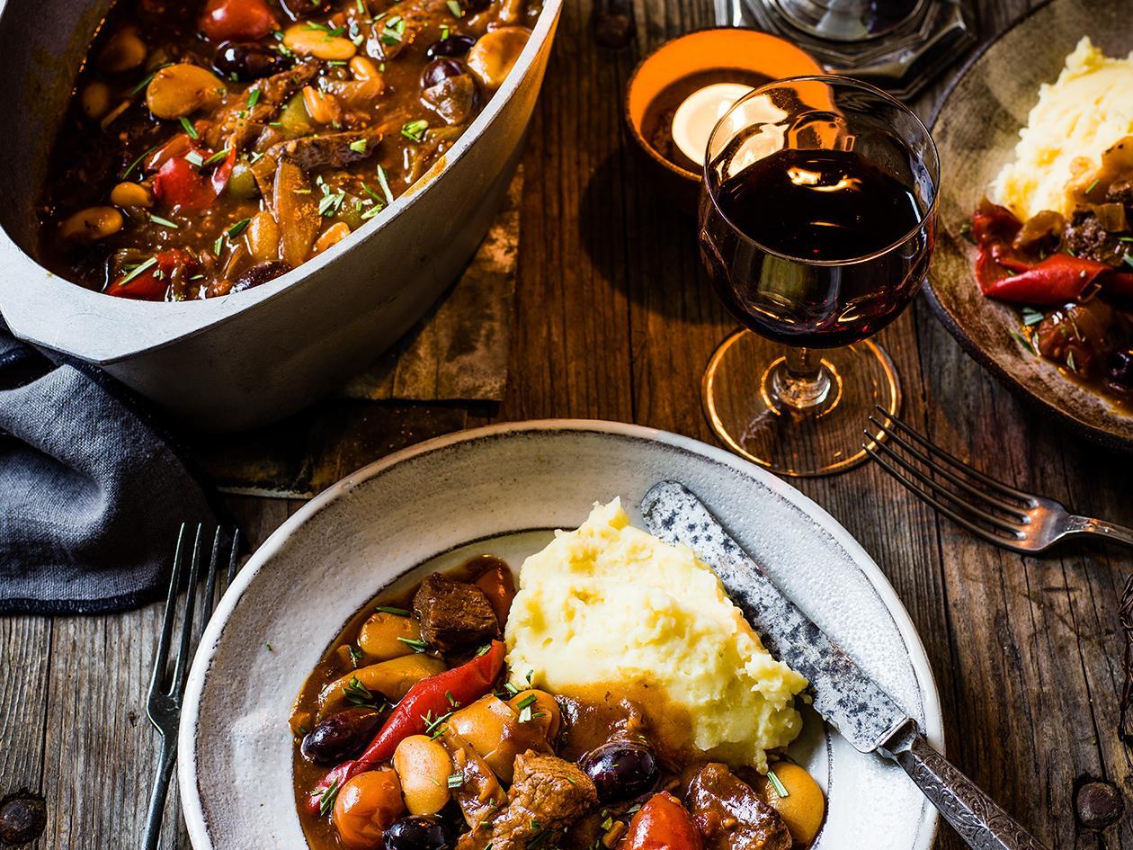Mediterranean Beef Stew Recipe Sainsbury S Magazine