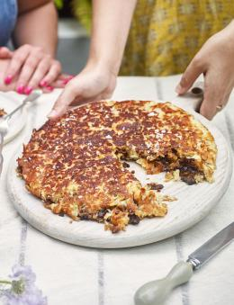 Giant sharing bacon jam rosti