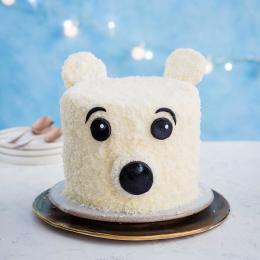 How to make a polar bear Christmas cake