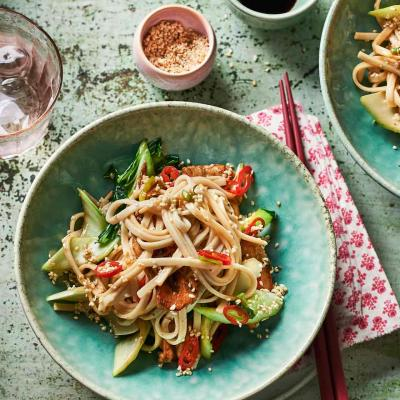 Ginger chicken udon noodles