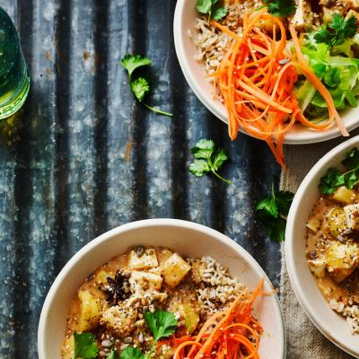 Massaman curry Buddha bowls