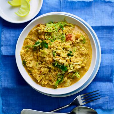 Golden coconut and cauliflower dhal