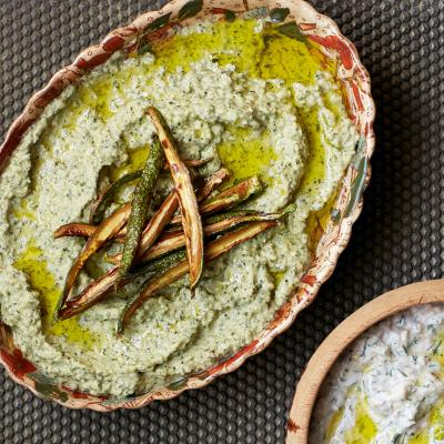Courgette and tahini dip