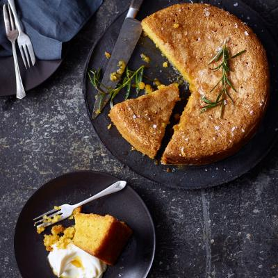Rosemary, olive oil and sea salt cake