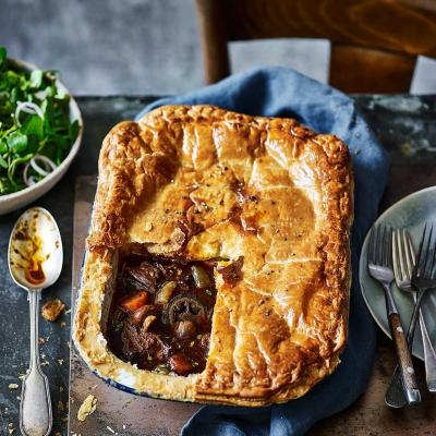 Beef and ale pie with pickled walnuts