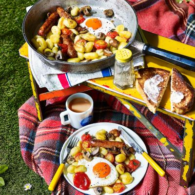 All-day breakfast gnocchi fry-up