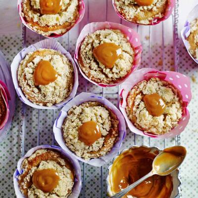 Banana and caramel muffins