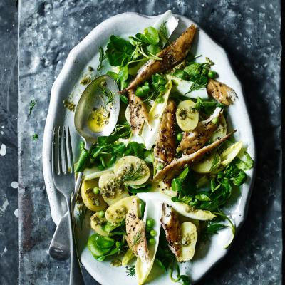 Scandi potato and mackerel salad