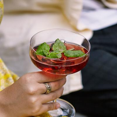 Pomegranate and mint Mimosa