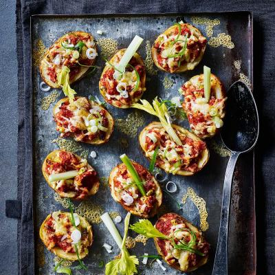 Bloody Mary stuffed potato skins