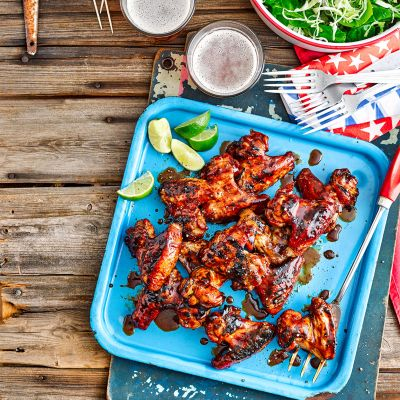 Coal-roasted Marmite chicken wings
