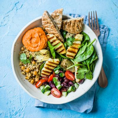 Greek mezze bowl
