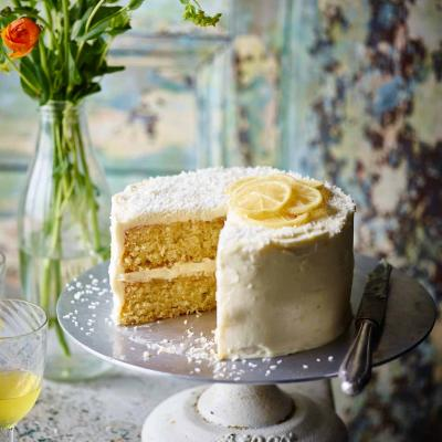 Coconut lemon drizzle cake