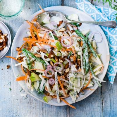 Celeriac and apple slaw