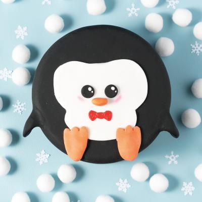Christmas penguin cake