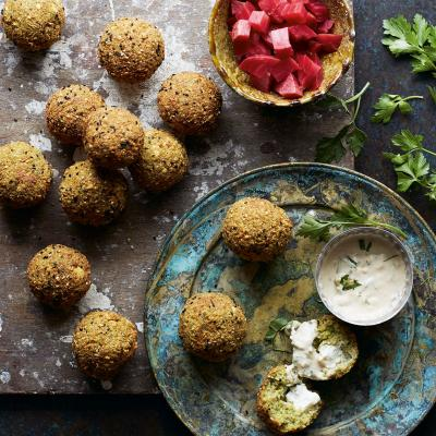 Feta and nigella seed falafel