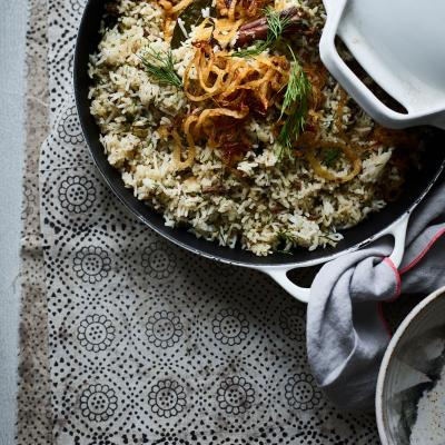 Keema and dill pulao