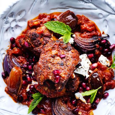 Moroccan chicken with feta